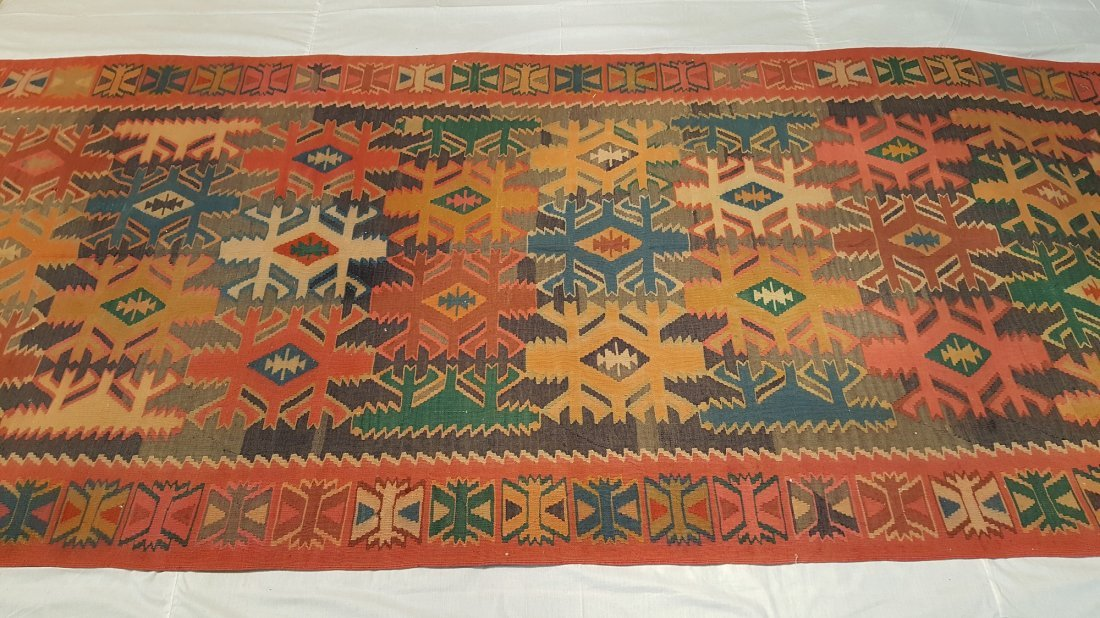 Antique Quba Kilim Rug Carpet - 2