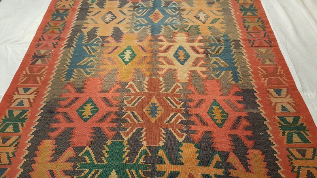 Antique Quba Kilim Rug Carpet - 3