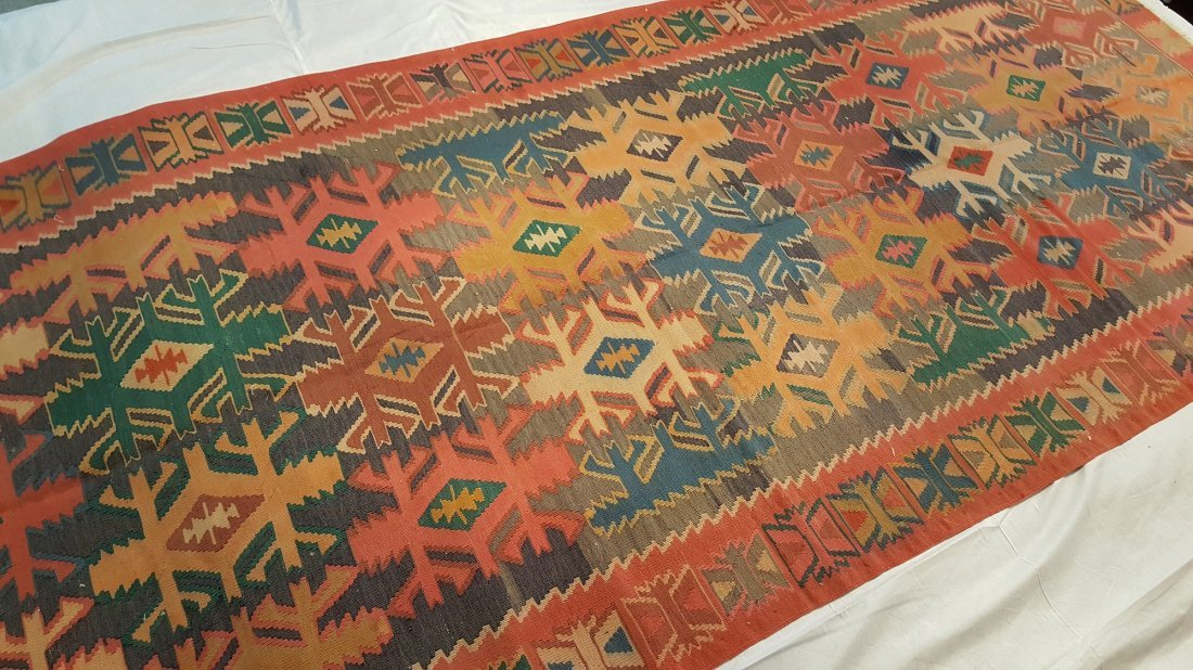 Antique Quba Kilim Rug Carpet - 4