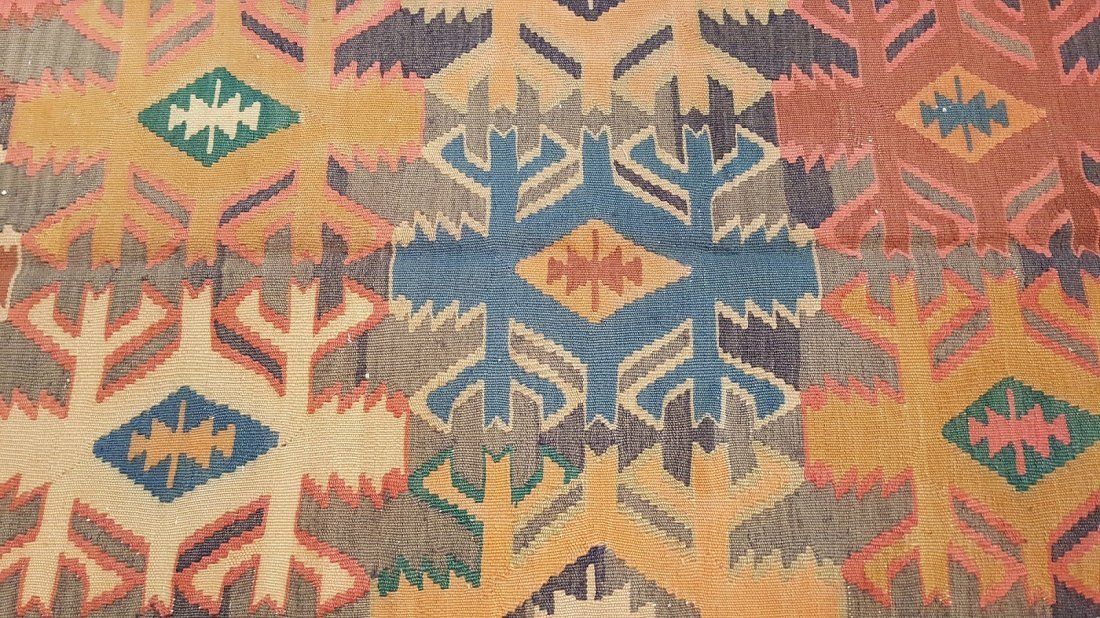 Antique Quba Kilim Rug Carpet - 5
