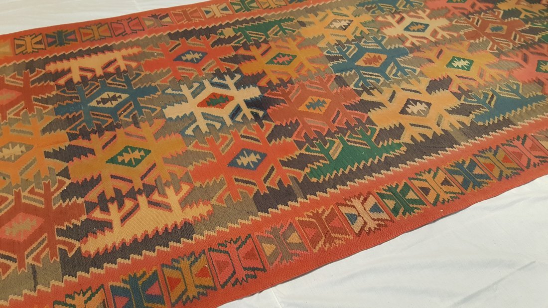 Antique Quba Kilim Rug Carpet - 6