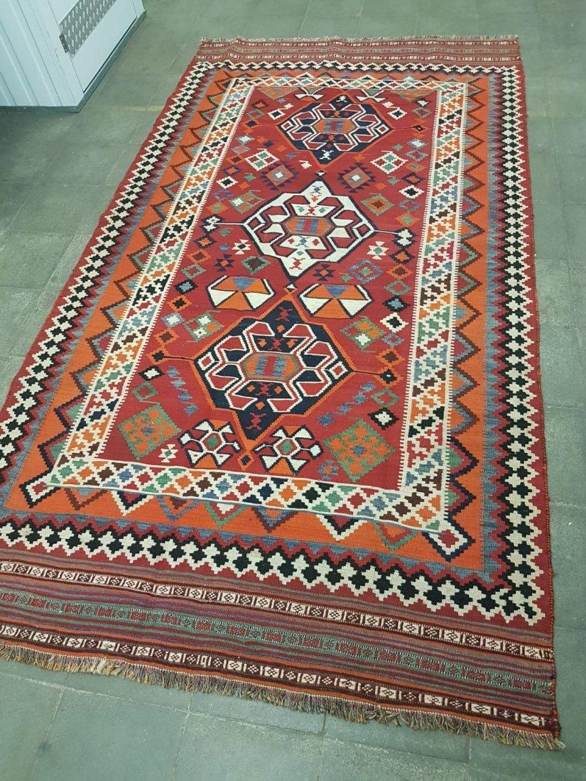 Rare Persian Unique Qashqai Kilim Rug Carpet