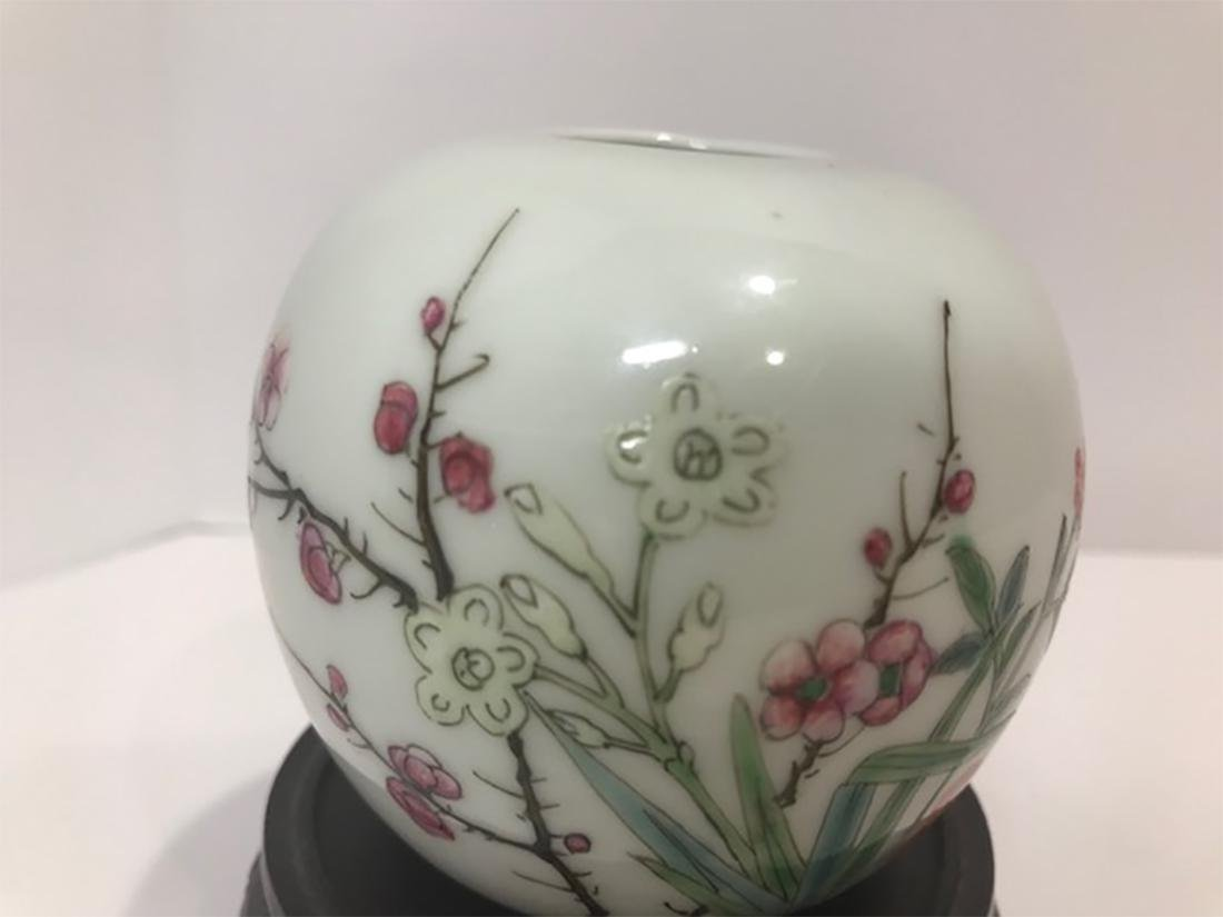 Chinese Late Qing Dynasty Famille Rose Porcelain Vase - 2