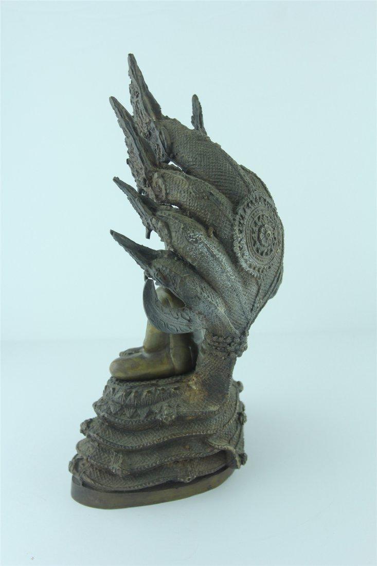 19th Century Thai Bronze Buddha - 2