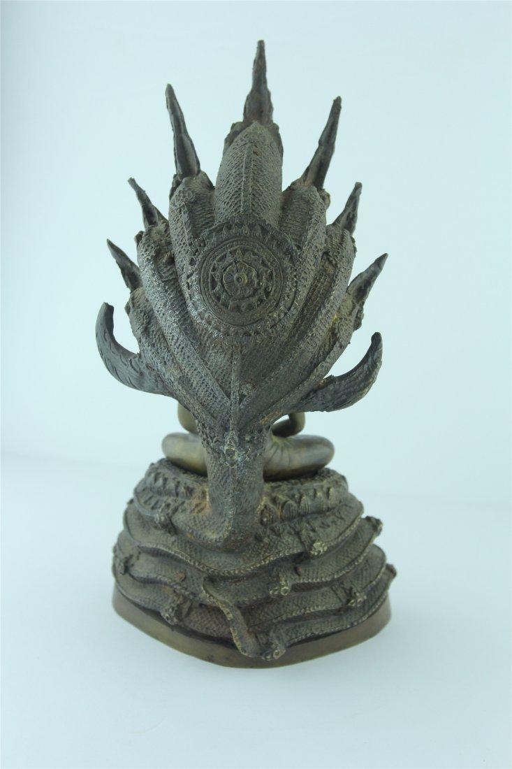 19th Century Thai Bronze Buddha - 3