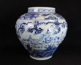 Chinese Blue and White Large Jar