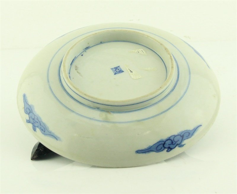 Chinese Blue and White Flower Bird Dish - 3