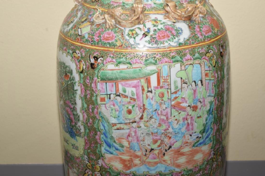 Chinese Huge Famille Rose Porcelain Vase - 3