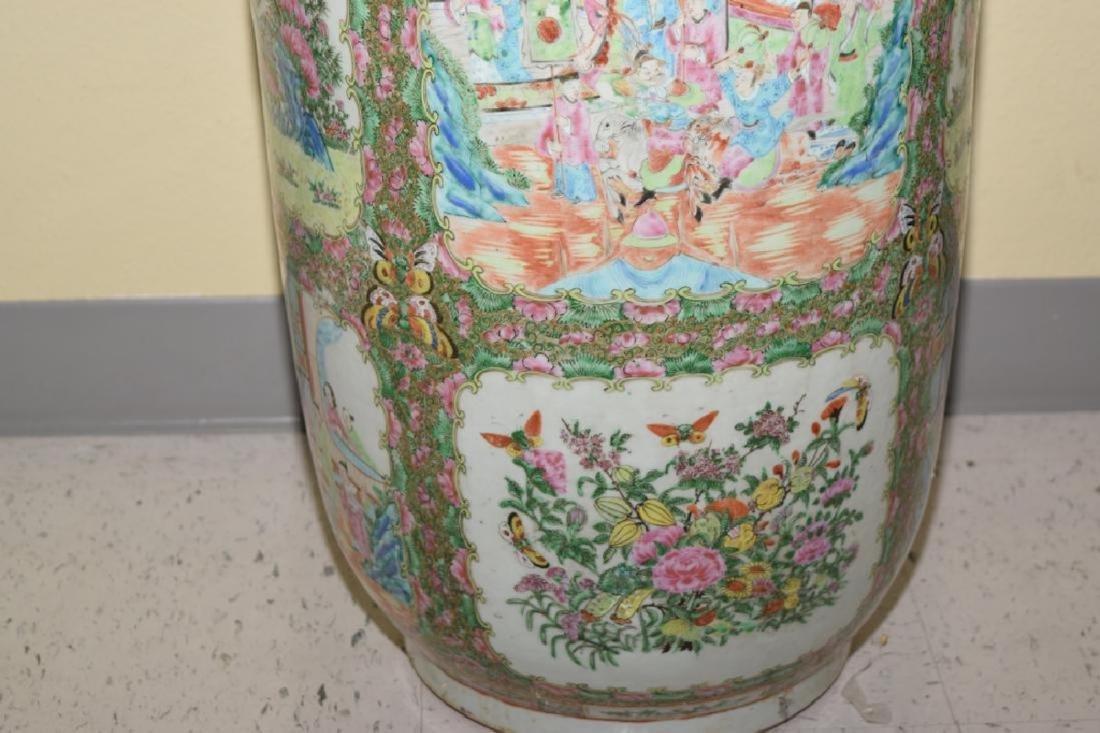 Chinese Huge Famille Rose Porcelain Vase - 4