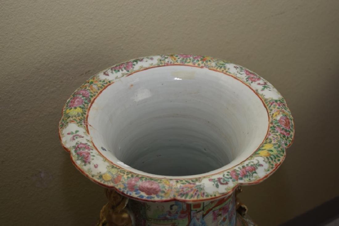 Chinese Huge Famille Rose Porcelain Vase - 5