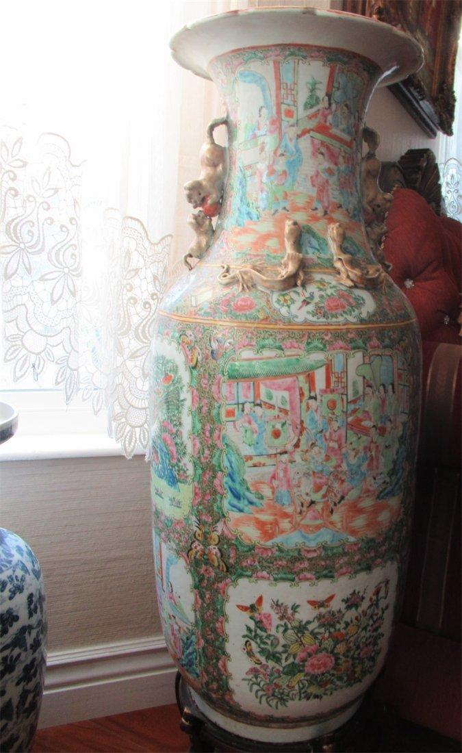 Chinese Huge Famille Rose Porcelain Vase - 6