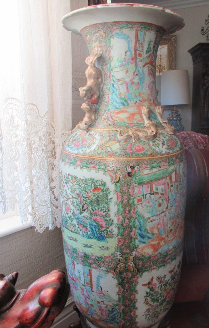 Chinese Huge Famille Rose Porcelain Vase - 7