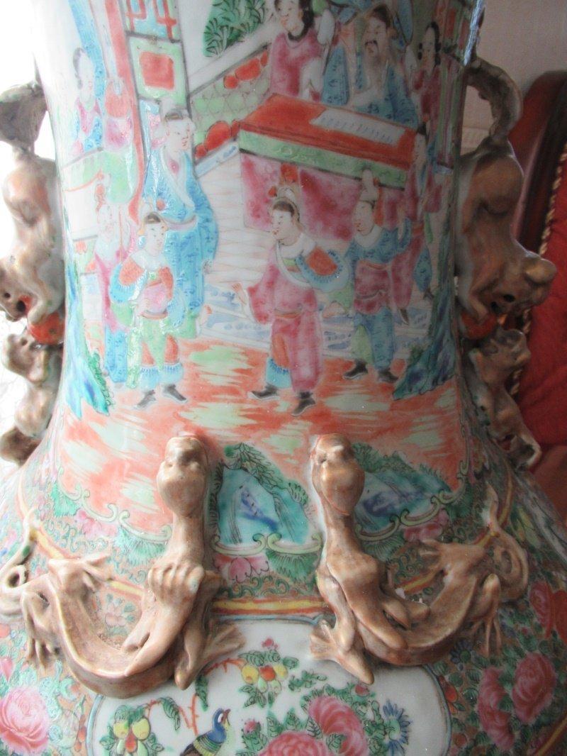 Chinese Huge Famille Rose Porcelain Vase - 8