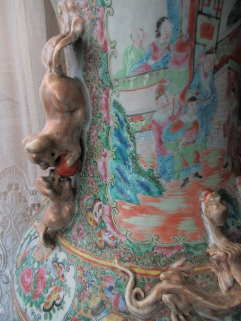 Chinese Huge Famille Rose Porcelain Vase - 9