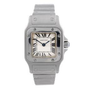 CARTIER - a Santos bracelet watch. Stainless steel