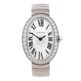 Cartier - A Baignoire Bracelet Watch. 18ct White Gold