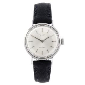 IWC - a lady's wrist watch. Stainless steel case.