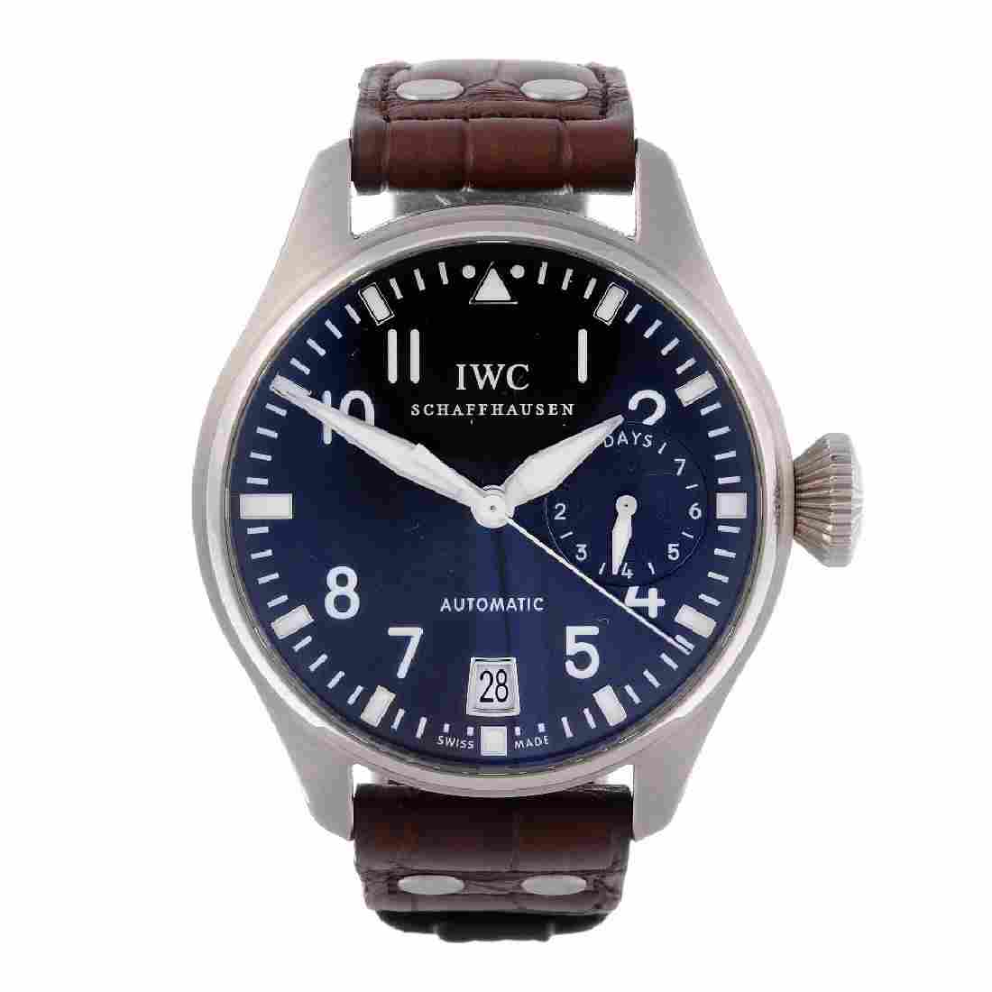 IWC - a gentleman's Big Pilot wrist watch. 18ct white