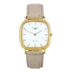 LONGINES - a gentleman's wrist watch. Gold plated case