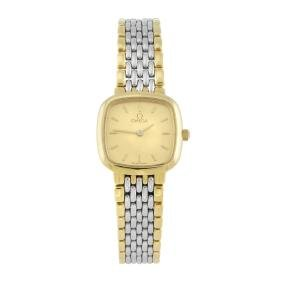 OMEGA - a lady's De Ville bracelet watch. Gold plated