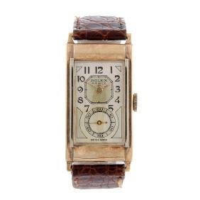 ROLEX - a gentleman's Prince wrist watch. 9ct yellow