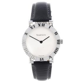 TIFFANY & CO. - a gentleman's Atlas wrist watch. White
