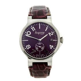 ASPREY - a gentleman's No. 8 wrist watch. Stainless