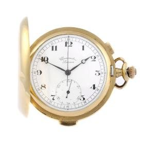 A full hunter repeater chronograph pocket watch by