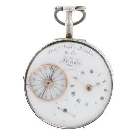 A silver pair case pocket watch by Benjamin Webb.