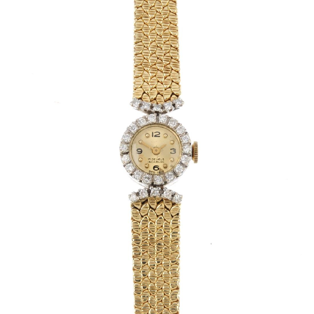 A lady's mid 20th century diamond cocktail watch. The