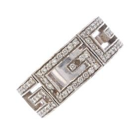 GUCCI - a diamond band ring. Designed as a series of