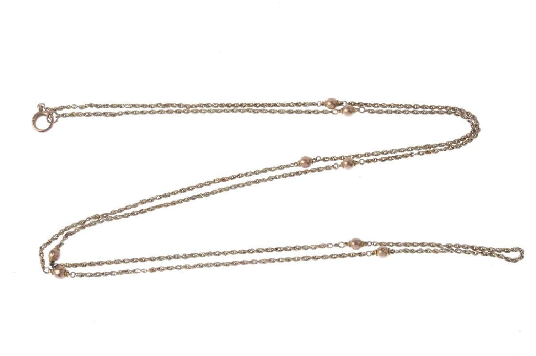 A longard chain. The rope-twist chain, with faceted - 2