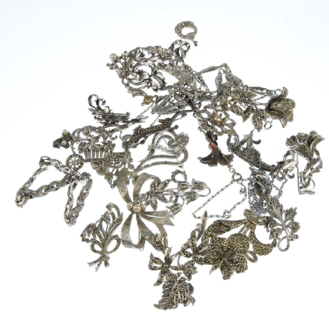 A selection of marcasite jewellery. To include mainly - 4