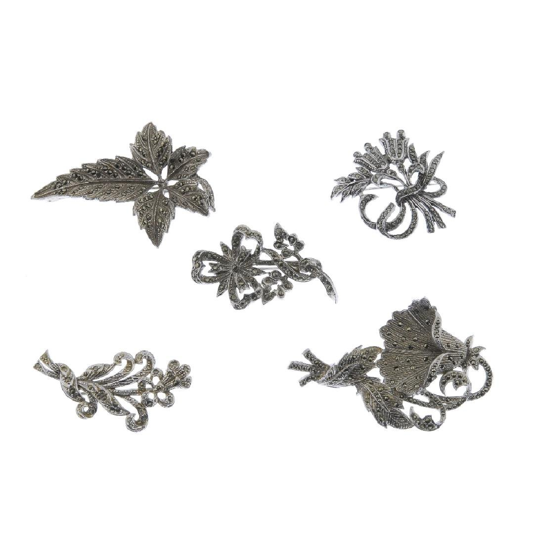 A selection of marcasite jewellery. To include animal