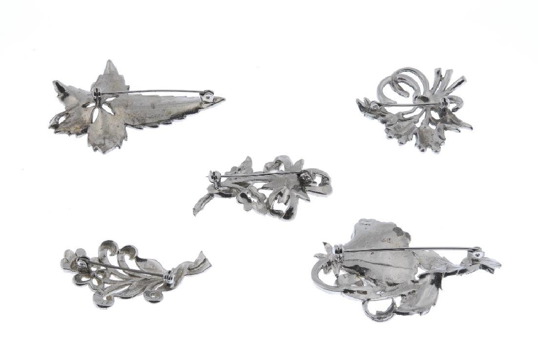 A selection of marcasite jewellery. To include animal - 2