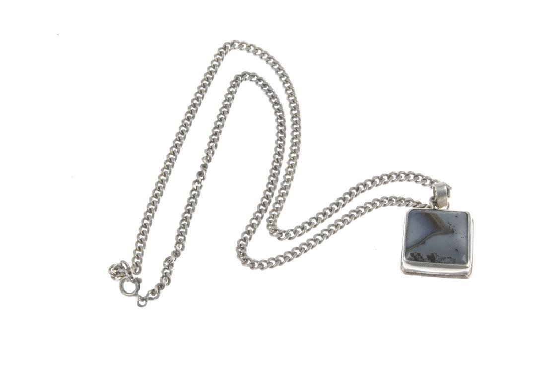 A selection of silver and white metal gem-set - 3
