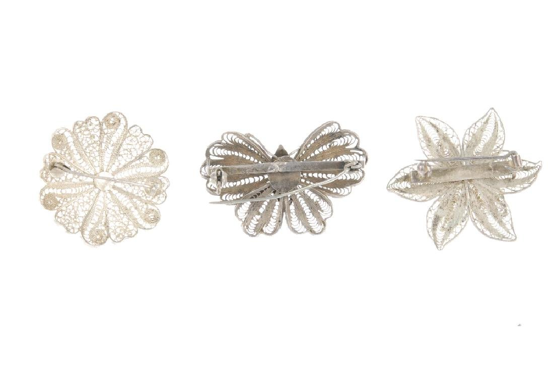 A selection of filigree jewellery. To include a brooch - 2