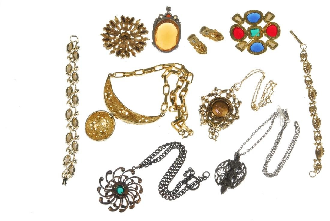 Nineteen items of designer costume jewellery. Including - 2