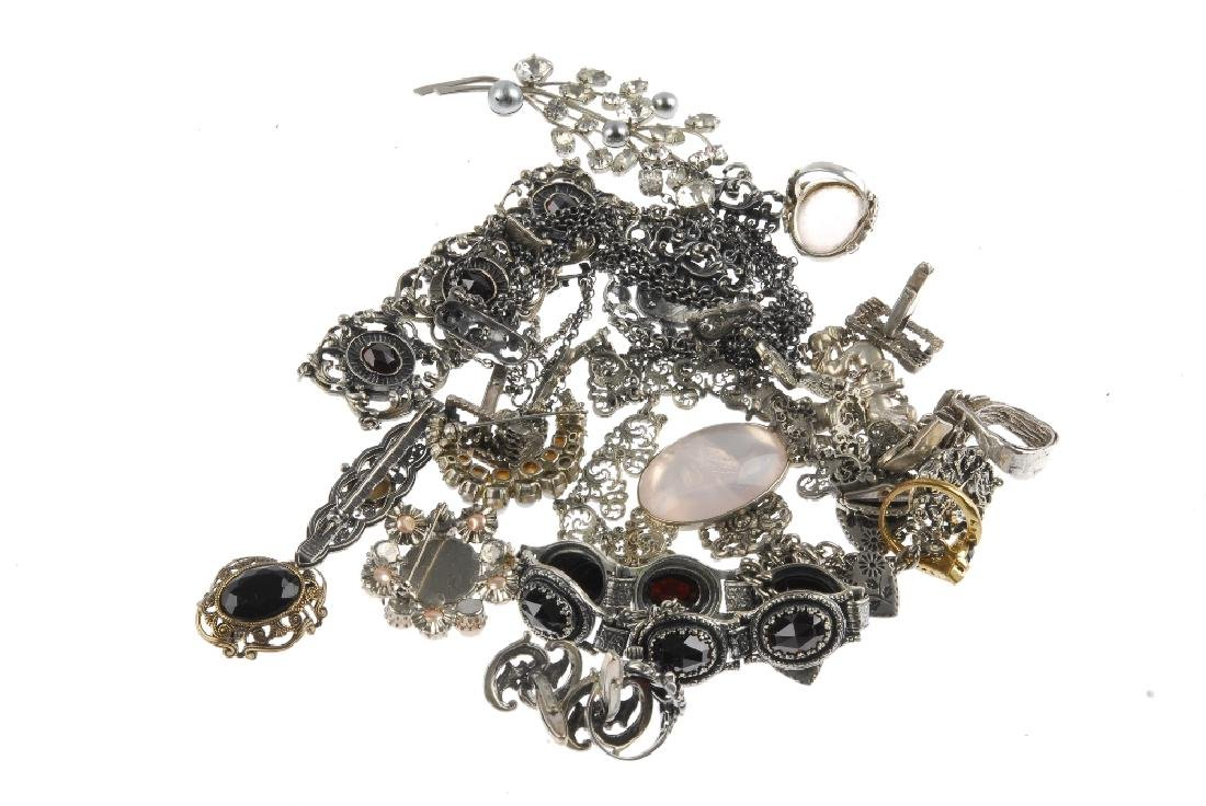 A selection of costume jewellery. To include a ring set - 3