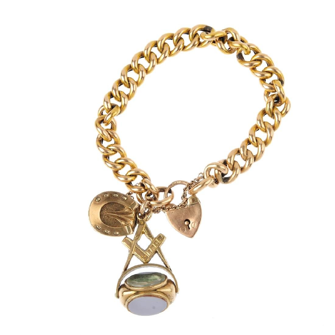 An early 20th century gold bracelet. Designed as a