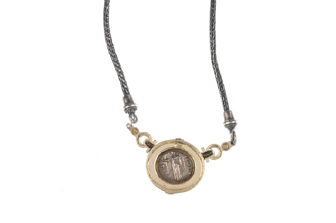 A 'coin' necklace and a similarly designed pair of - 2