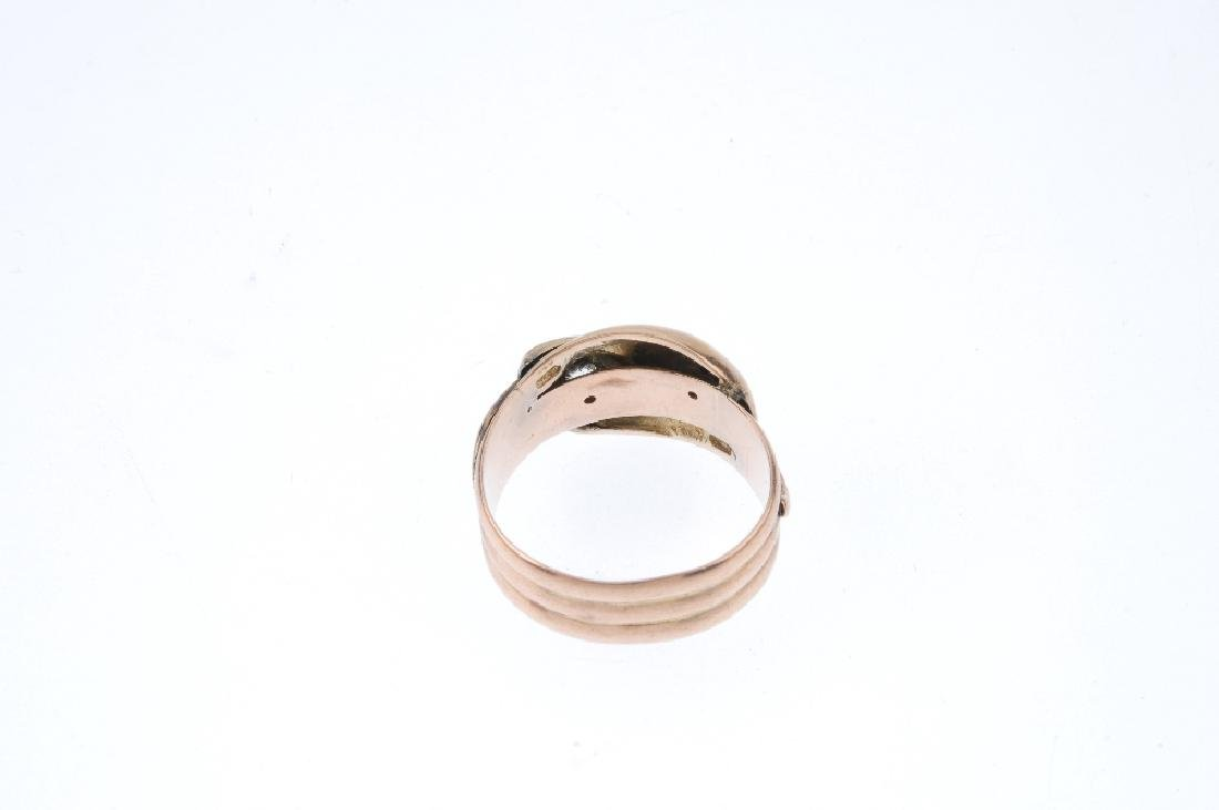 A late Victorian 9ct gold diamond and paste dress ring. - 3