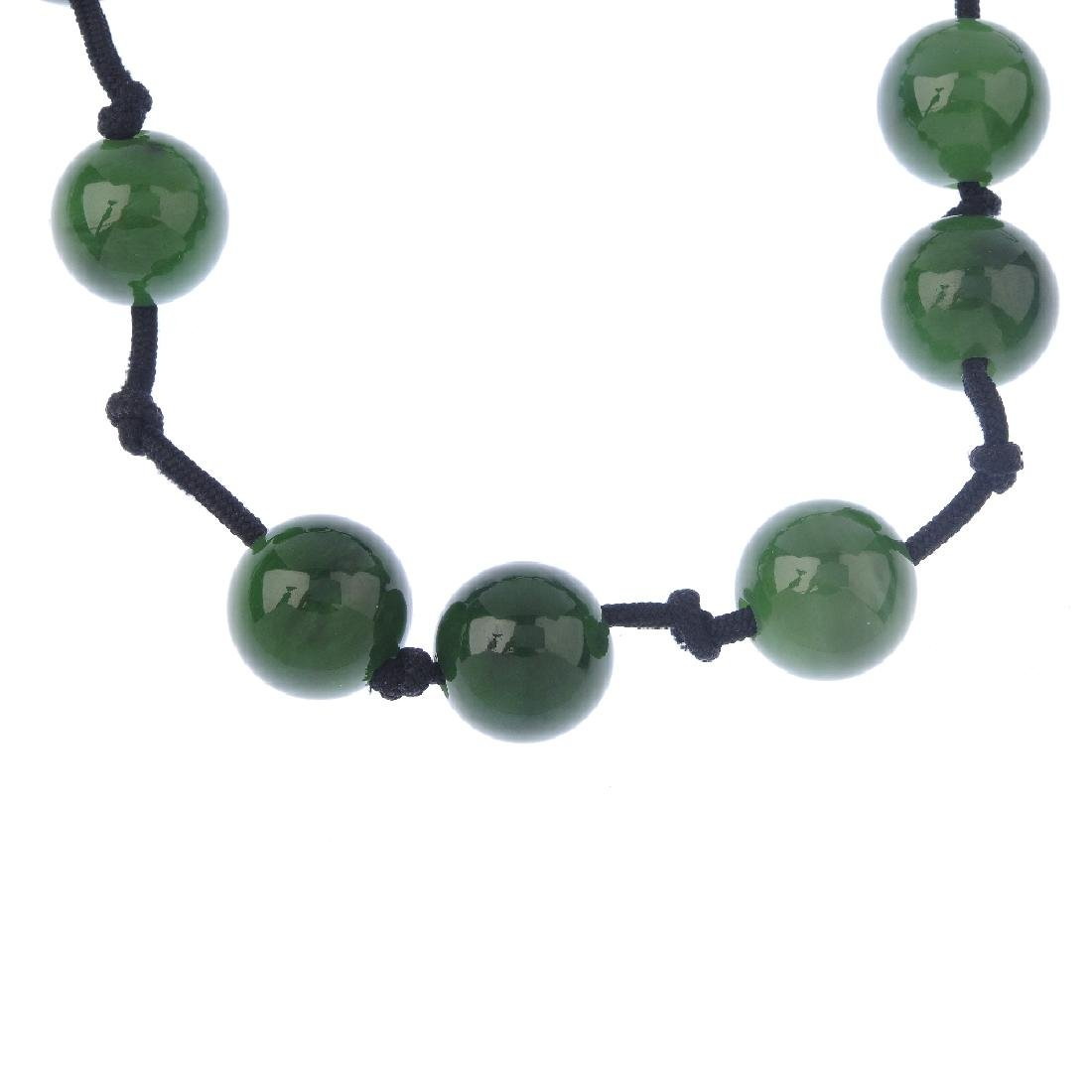 TIFFANY & CO. - a jade 'Sphere' necklace. Comprising