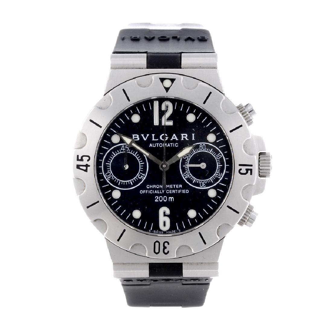 BULGARI - a gentleman's Diagono Scuba chronograph wrist