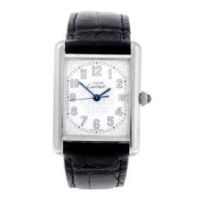 Cartier - A Must De Cartier Tank Wrist Watch. Silver