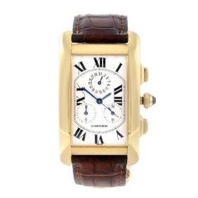 Cartier - A Tank Americaine Chronograph Wrist Watch.
