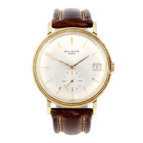 PATEK PHILIPPE - a gentleman's Calatrava wrist watch.