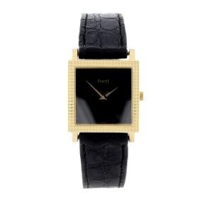 PIAGET - a lady's wrist watch. Yellow metal case,