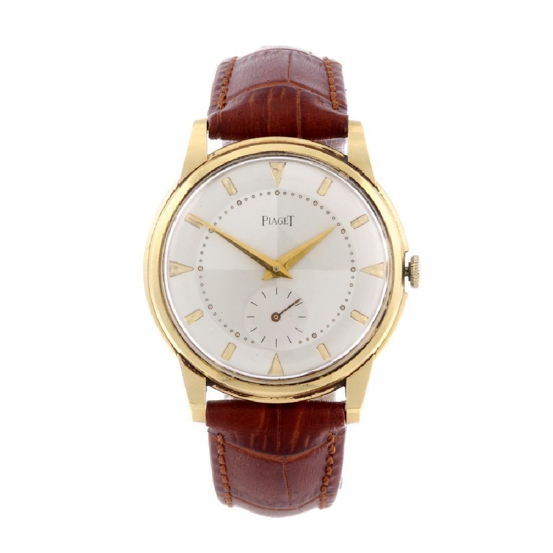PIAGET - a gentleman's wrist watch. 18ct yellow gold