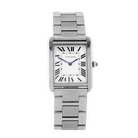 (2374) CARTIER - a Tank Solo bracelet watch. Stainless